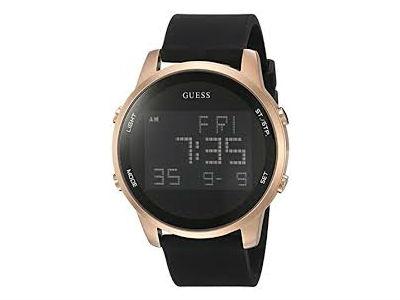 Reloj de silicona digital Guess para mujer, de acero inoxidable
