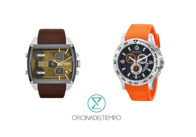 Elige la mejor opción de reloj entre Nautica o Diesel