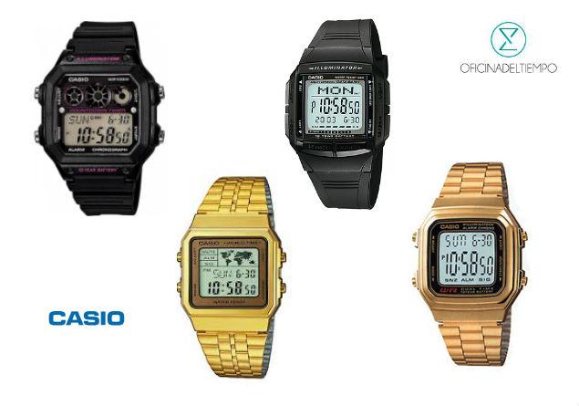 Relojes Casio en diferentes colores